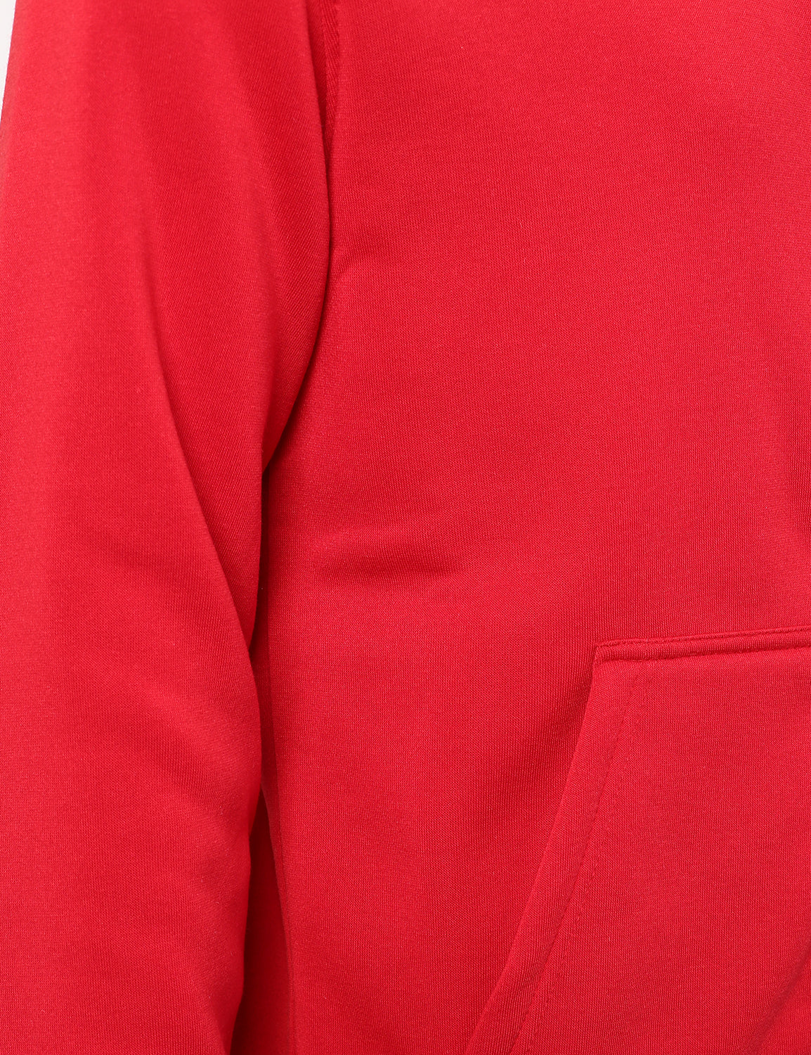 RED Basic Zip Up Fleece Hoodie - URBANCREWS