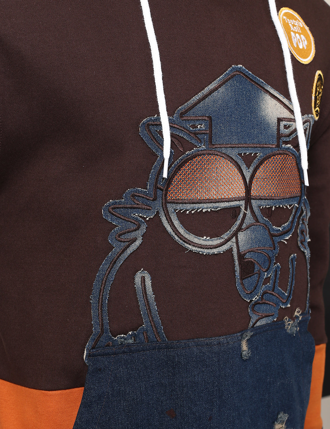 BROWN - DENIM OWL POP