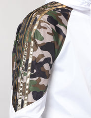 WHITE - CAMO WINDBREAKER