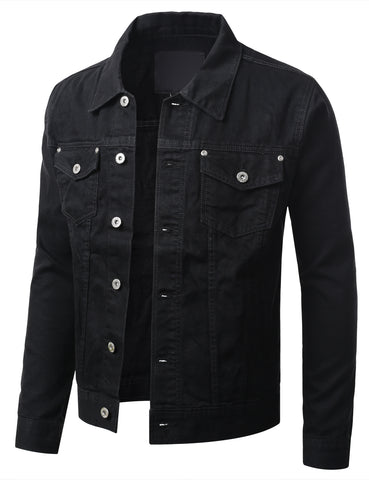 Button Down Denim Trucker Jacket