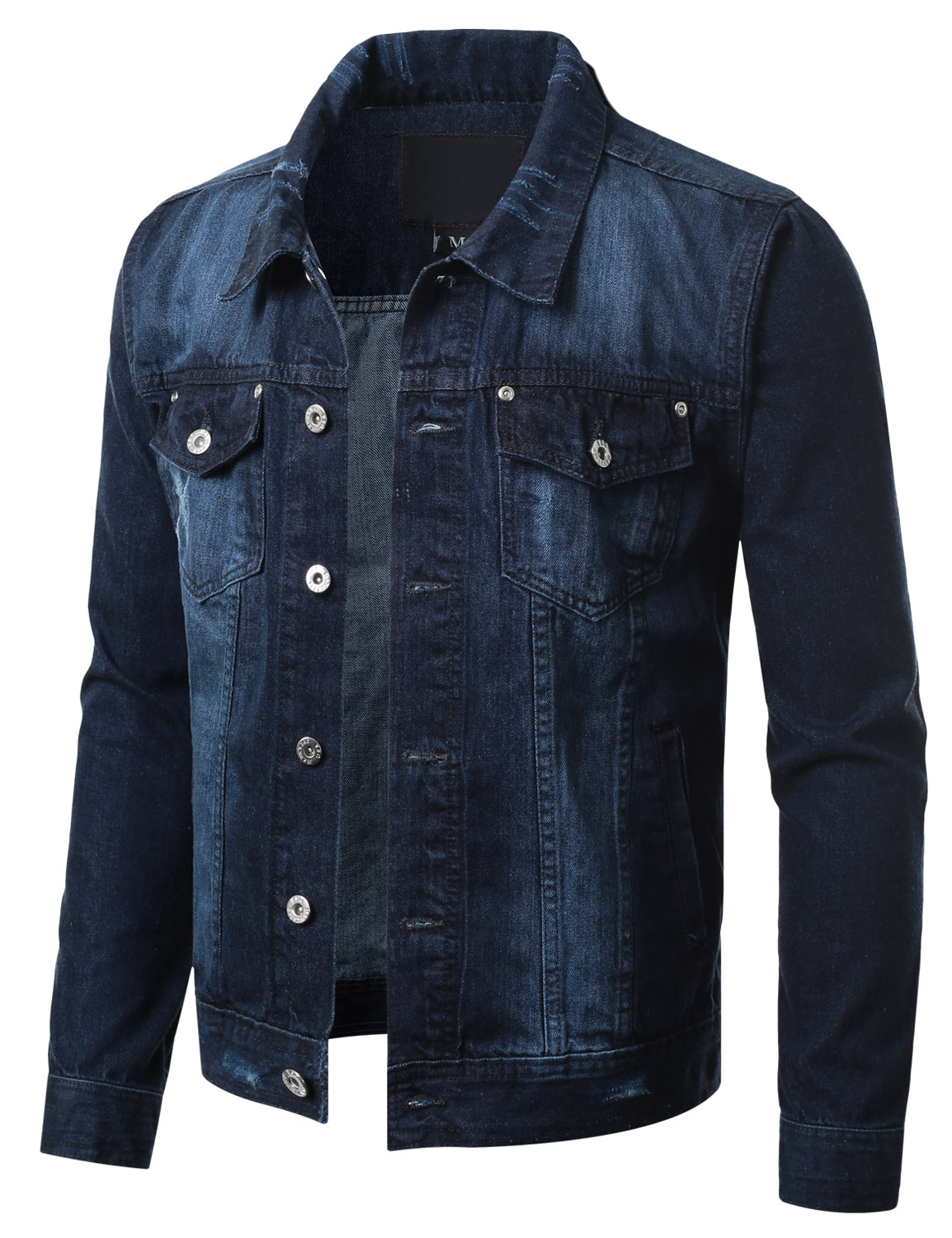 DSBBLUE Button Down Denim Trucker Jacket - URBANCREWS