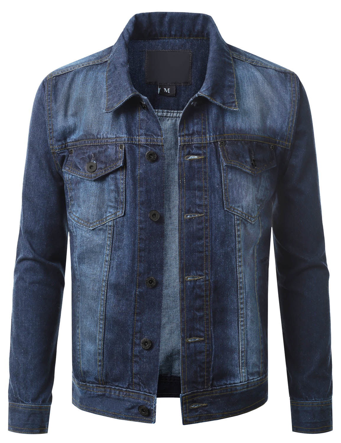 MSB Button Down Denim Trucker Jacket - URBANCREWS
