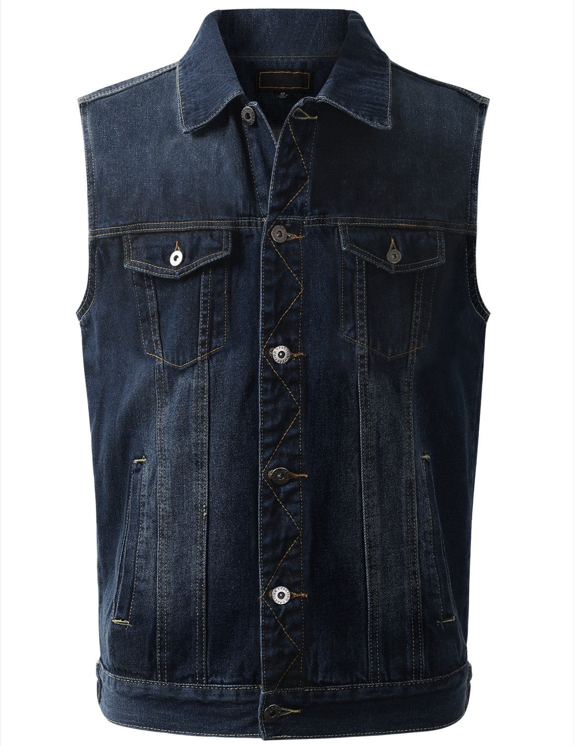 DKBLUE Dark Wash Denim Vest