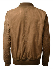 INDIANTAN Oil Wash Bomber Jacket - URBANCREWS