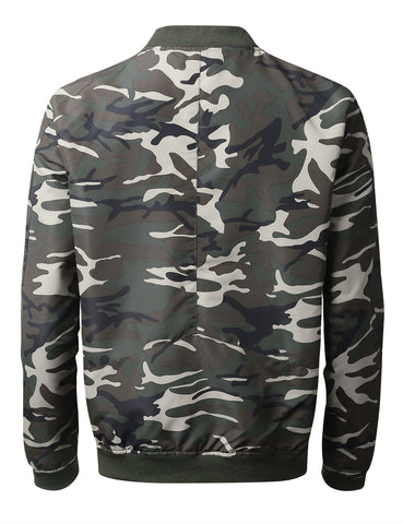 Camo Lightweight Bomber Jacket