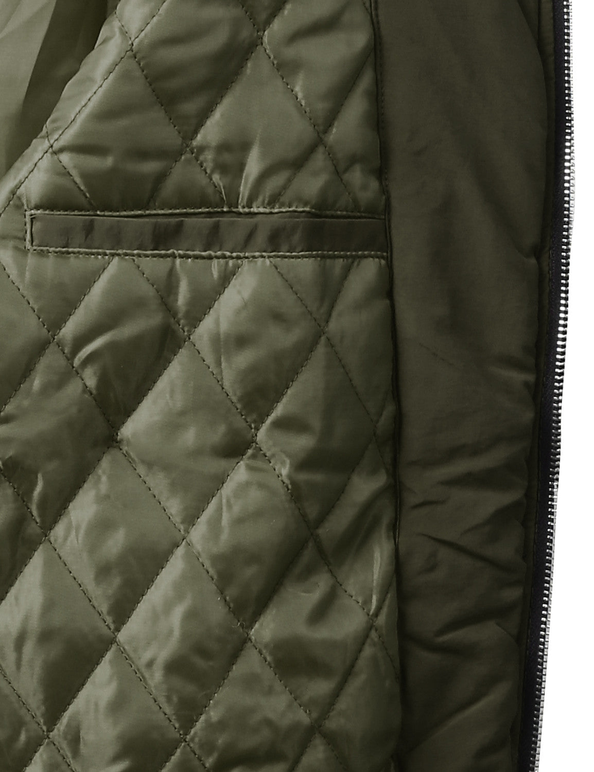 OLIVE Padded Woven Zip Up Bomber Jacket - URBANCREWS