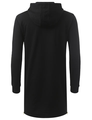 French Terry Longline Hoodie Jacket