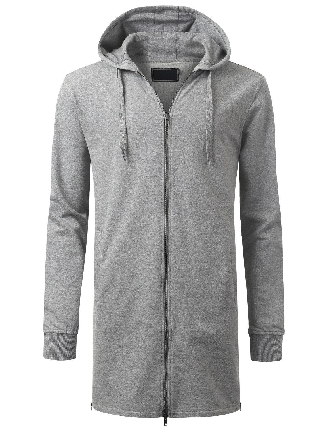 HGRAY French Terry Longline Hoodie Jacket - URBANCREWS
