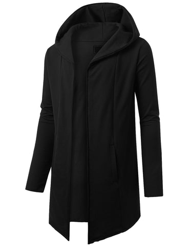 French Terry Hooded Cardigan Cape