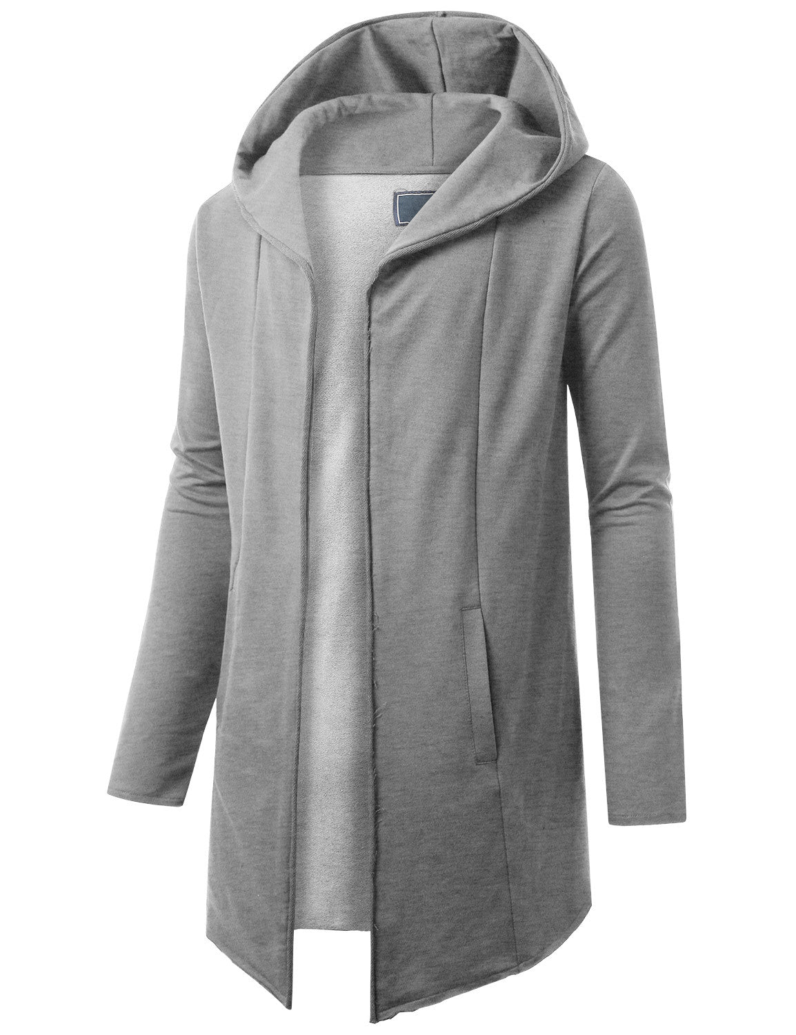 HGRAY French Terry Hooded Cardigan Cape-URBANCREWS