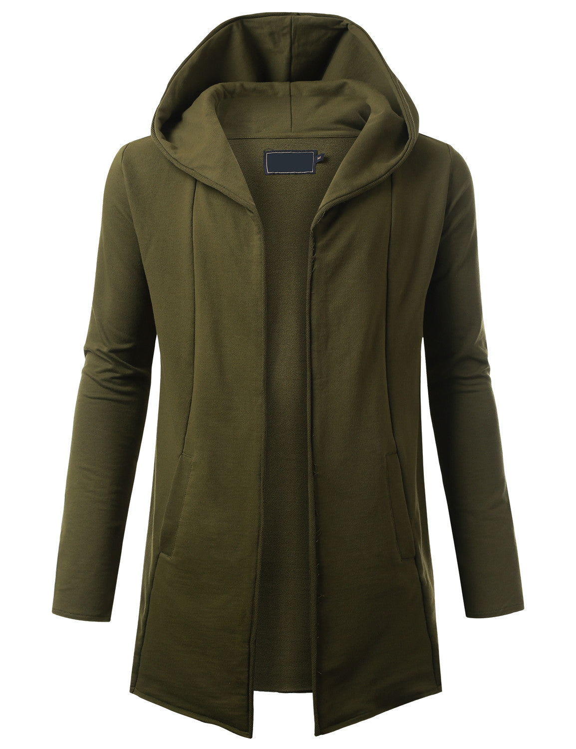 OLIVE French Terry Hooded Cardigan Cape - URBANCREWS