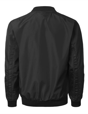 Casual Vinyl Full Zip Bomber Jacket