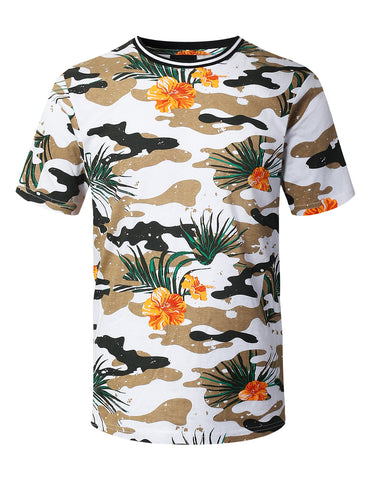 Tropical Camouflage Print T-shirt