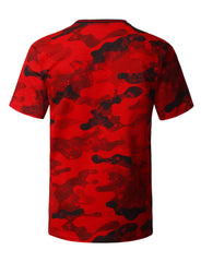 RED Camouflage Splatter Print T-shirt - URBANCREWS