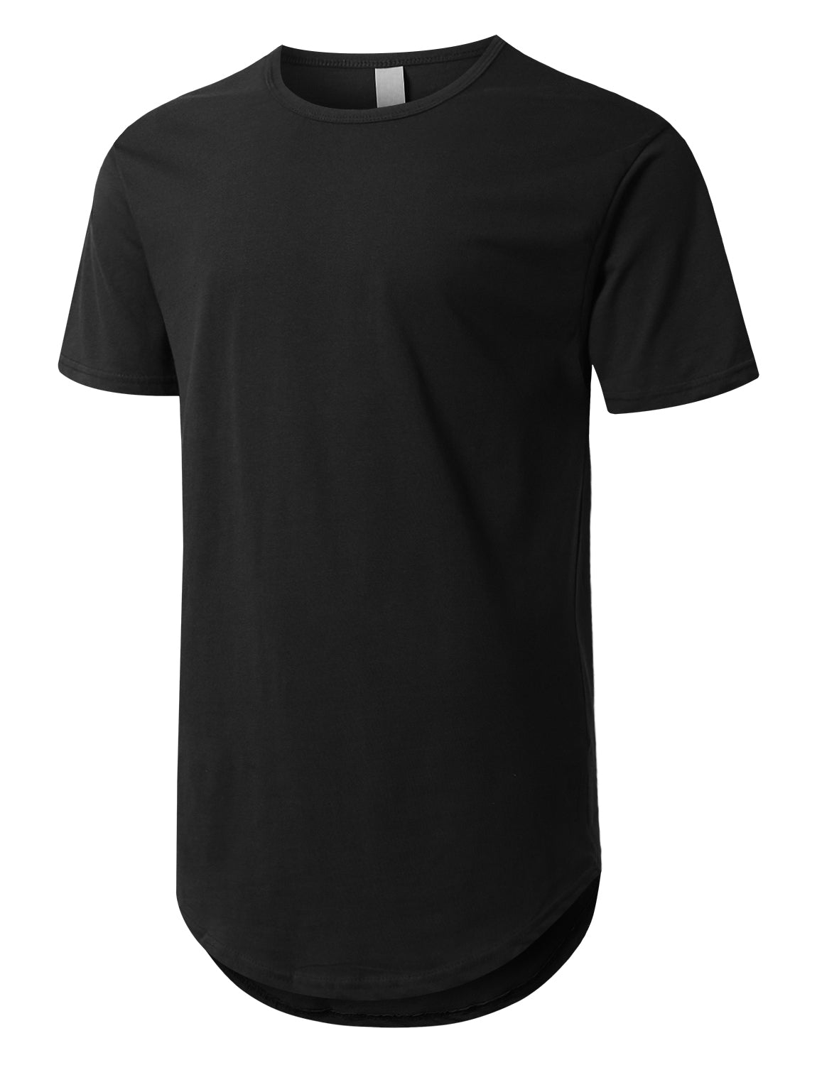 Black Crewneck Basic T-Shirts Black