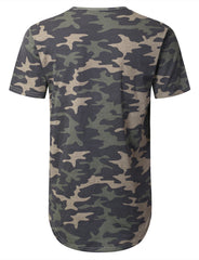 CAMO Basic Drop Tail Longline T-shirt - URBANCREWS