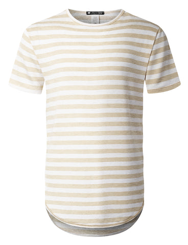 Crewneck Striped Longline T-shirt