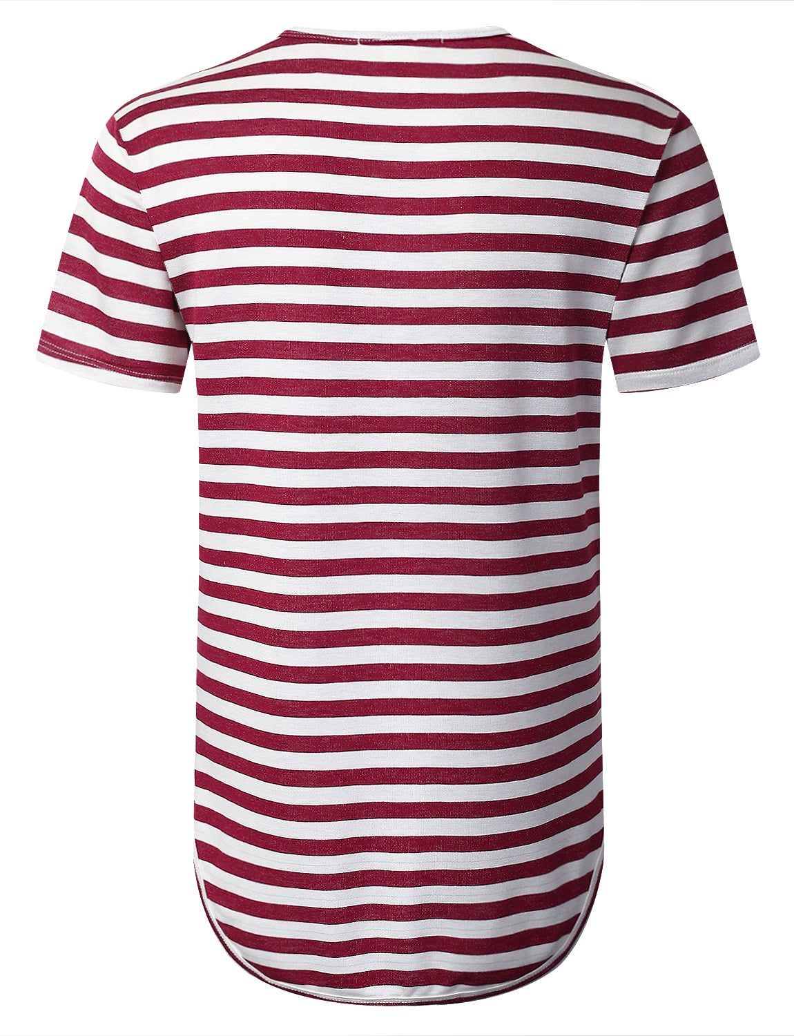 WINE Crewneck Striped Longline T-shirt - URBANCREWS