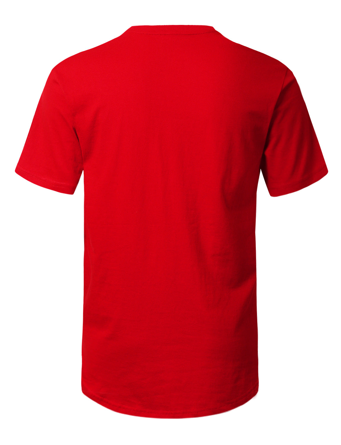 RED Allover Crack Printed Longline T-shirt - URBANCREWS