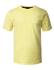 LTYELLOW Splatter Striped T-shirt - URBANCREWS