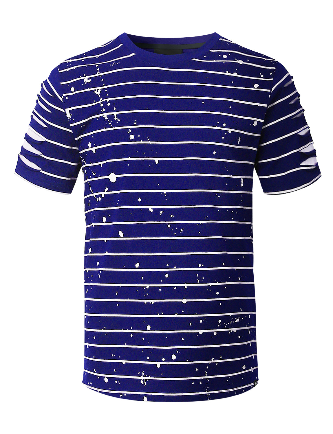 ROYAL Splatter Striped T-shirt - URBANCREWS