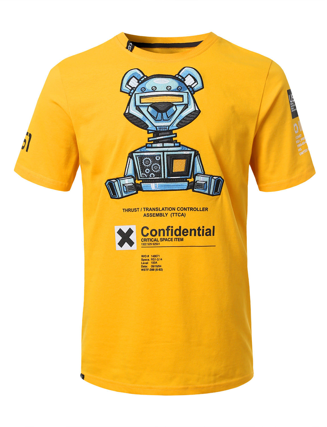 GOLD -  Robo  Confidential Print T-Shirts