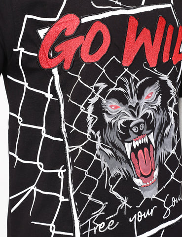 """Go Wild"" Beast Free Your Soul T-Shirts - BLACK"