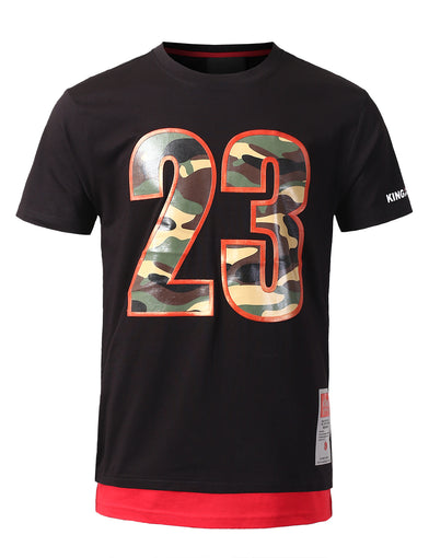 "Legendary Camo ""23"" Printed T-Shirts - BLACK"