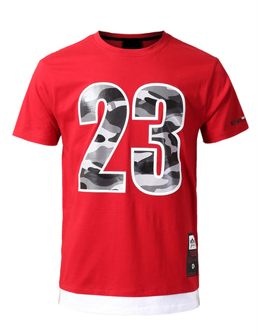 "Legendary Camo ""23"" Patched T-Shirts - RED"