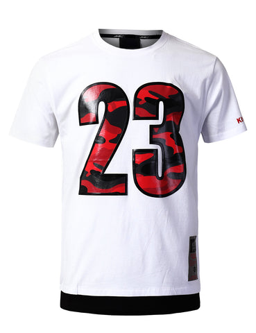 "Legendary Camo ""23"" Patched T-Shirts - WHITE"
