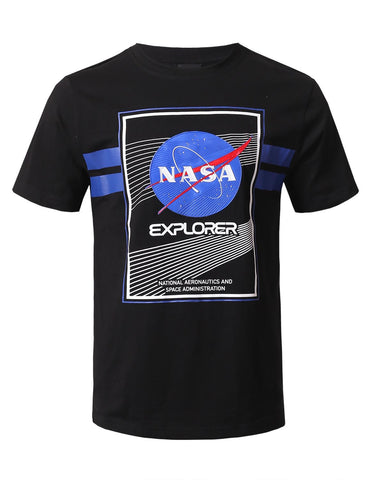 NASA Explore Patched T-Shirts - BLACK