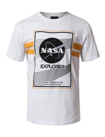 NASA Explore Patched T-Shirts - WHITE