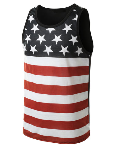 USA American Flag Tank Top