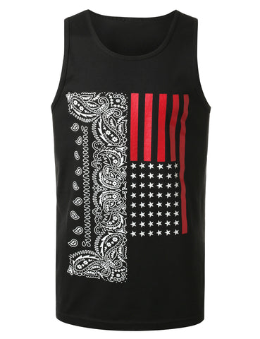 Paisley Flag Tank Top