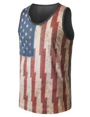 AMERICANA American Flag Freedom Tank Top - URBANCREWS