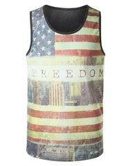 FREEDOM American Flag Freedom Tank Top - URBANCREWS