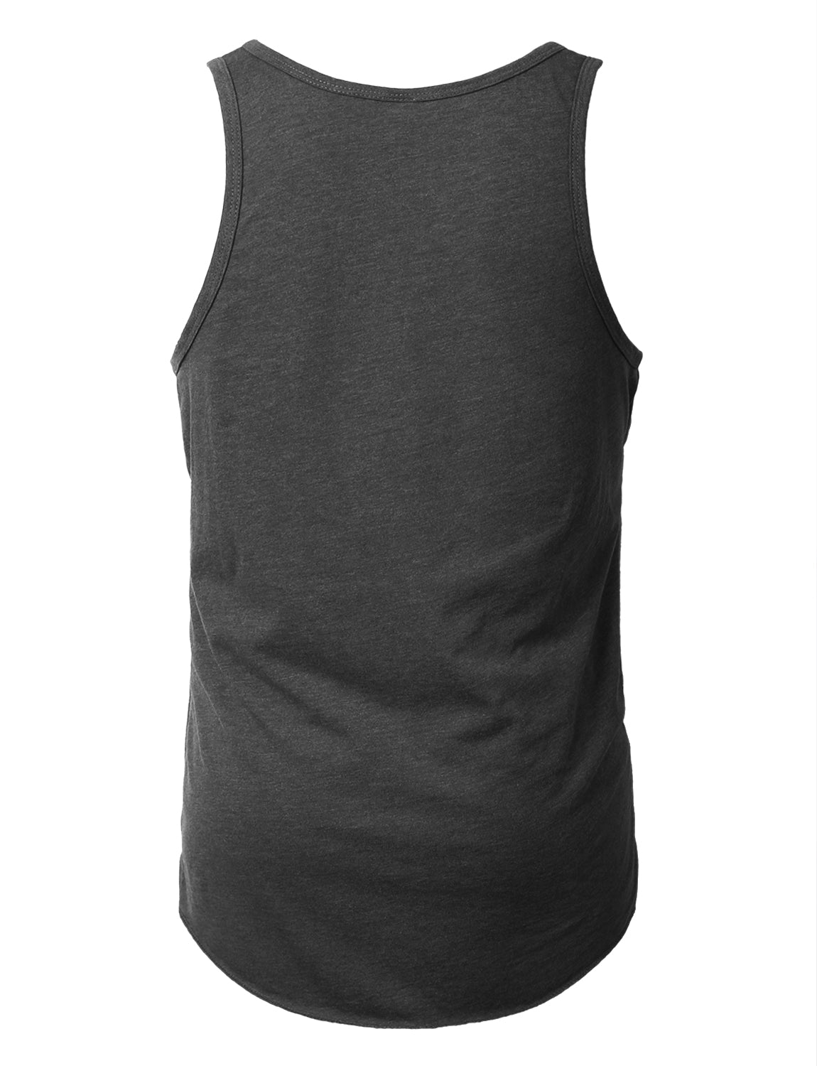 CHARCOAL Basic Solid Muscle Tank Top Shirts - URBANCREWS