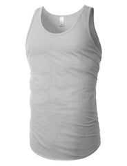 HGREY Basic Solid Muscle Tank Top Shirts - URBANCREWS