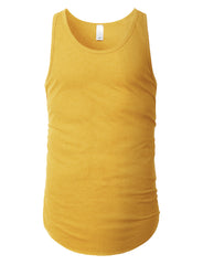 MUSTARD Basic Solid Muscle Tank Top Shirts - URBANCREWS