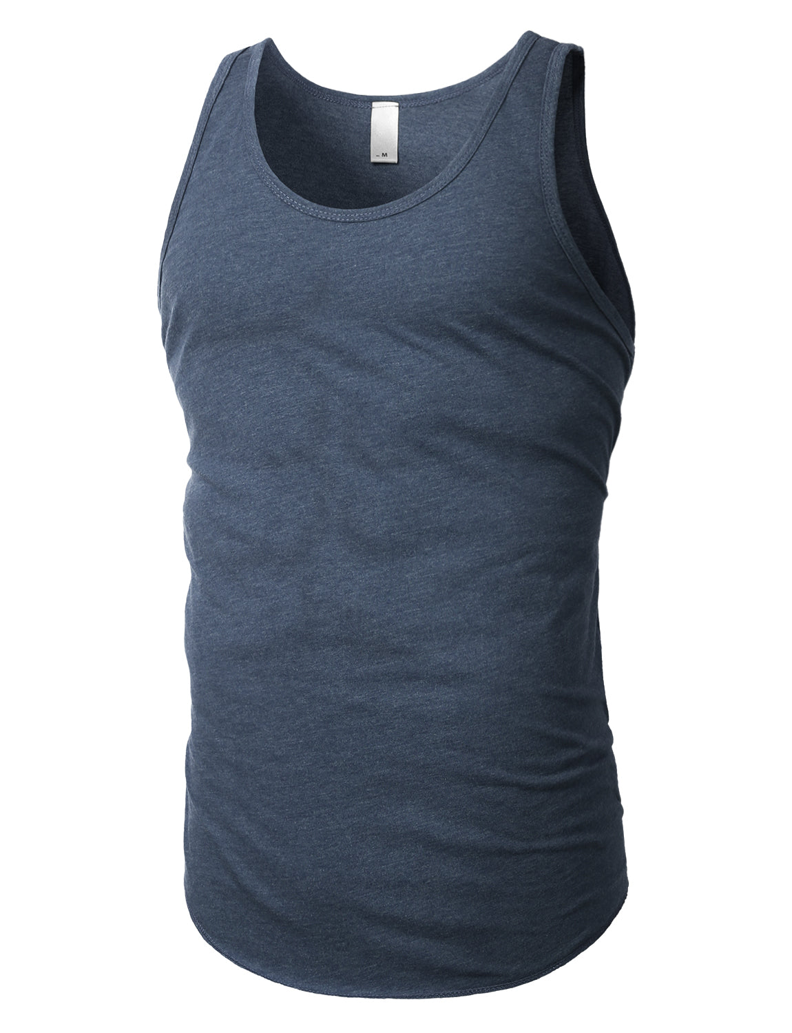 NAVY Basic Solid Muscle Tank Top Shirts - URBANCREWS