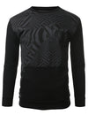 BLACK - French Terry Crewneck Sweatshirt BLACK SMALL