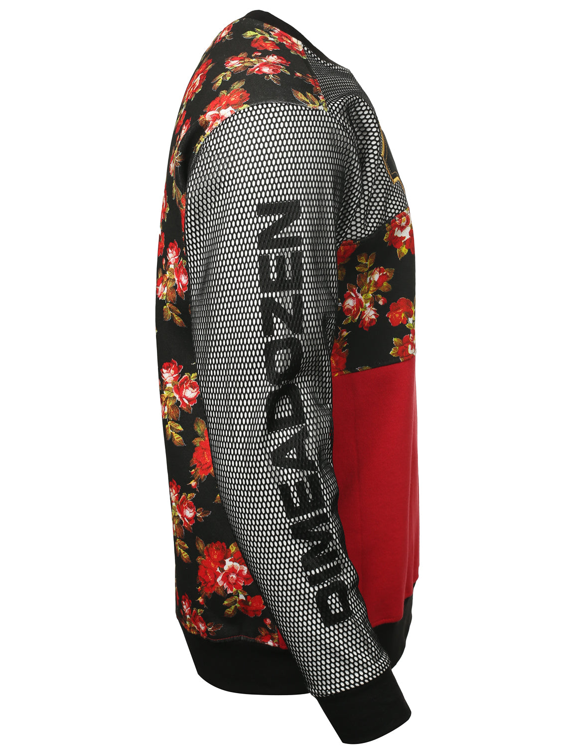 RED - 12 Mesh DimeADozen Floral Sweatshirt RED XLARGE