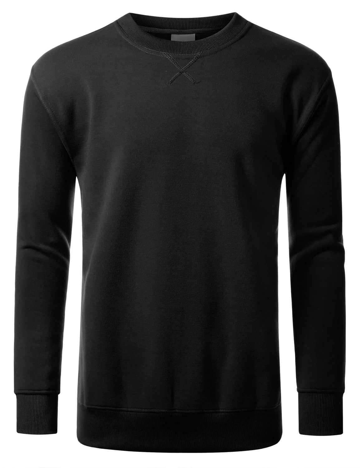 BLACK Basic Crewneck Sweatshirt-Various Colors - URBANCREWS