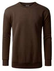 BROWN Basic Crewneck Sweatshirt-Various Colors - URBANCREWS