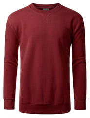 BURGUNDY Basic Crewneck Sweatshirt-Various Colors - URBANCREWS