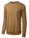 KHAKI Basic Crewneck Sweatshirt-Various Colors - URBANCREWS
