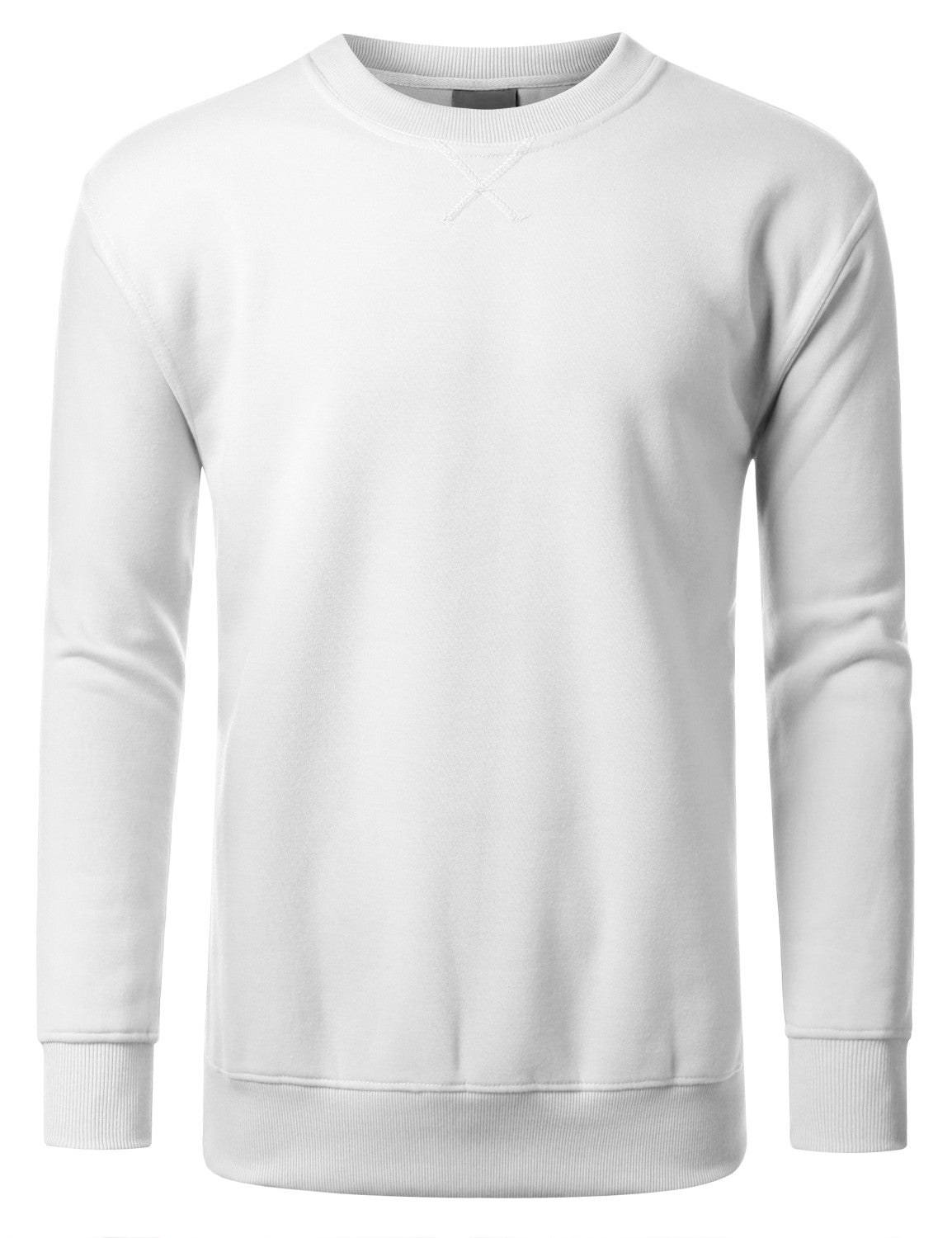 WHITE Basic Crewneck Sweatshirt-Various Colors - URBANCREWS