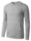 HGRAY Basic Pouch Crewneck Pullover Sweatshirt - URBANCREWS