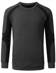 CHARCOAL Basic Ribbed Crewneck Sweatshirt - URBANCREWS