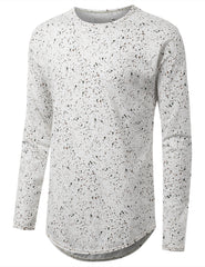 OLIVE Dot Splatter Long Sleeve Tshirt - URBANCREWS